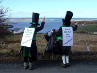 Leprechauns support Meas Iar-Thuaisceart, North West Anti-Waste Campaign